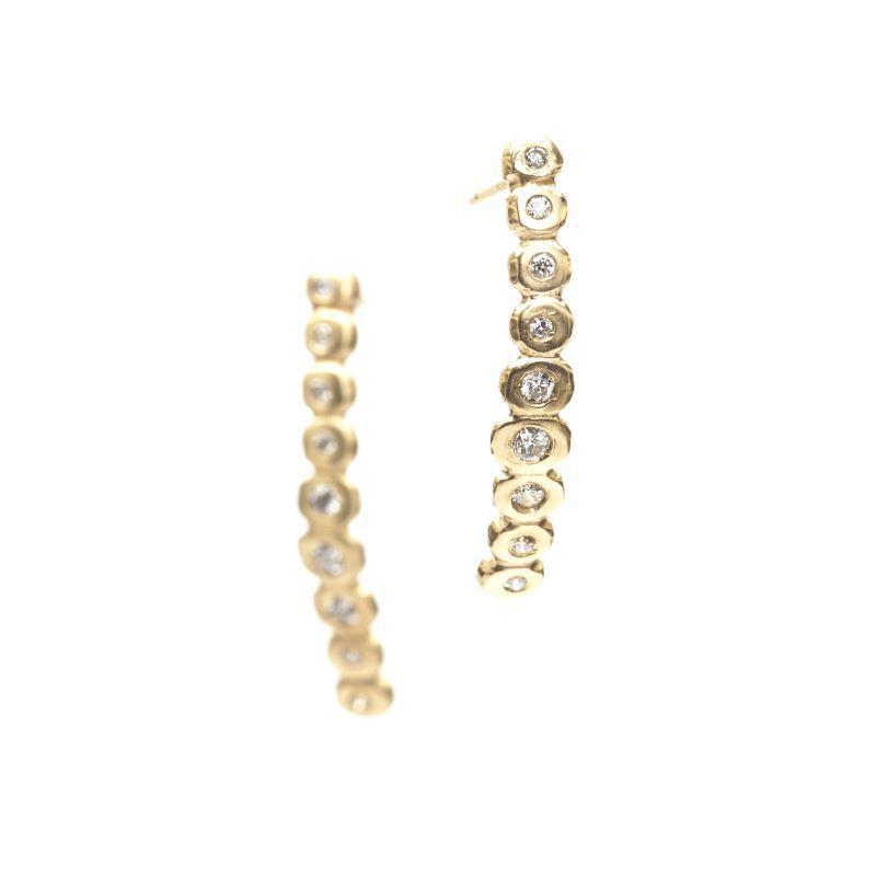 Falling Diamond Bubble Studs