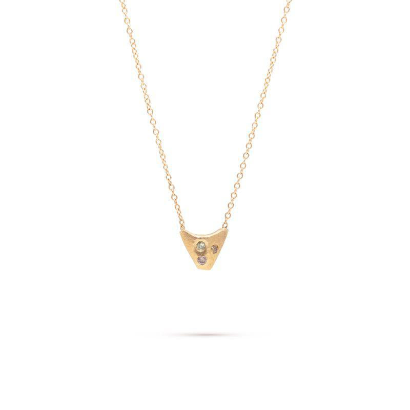 Diamond Speckled Trapezoid Necklace