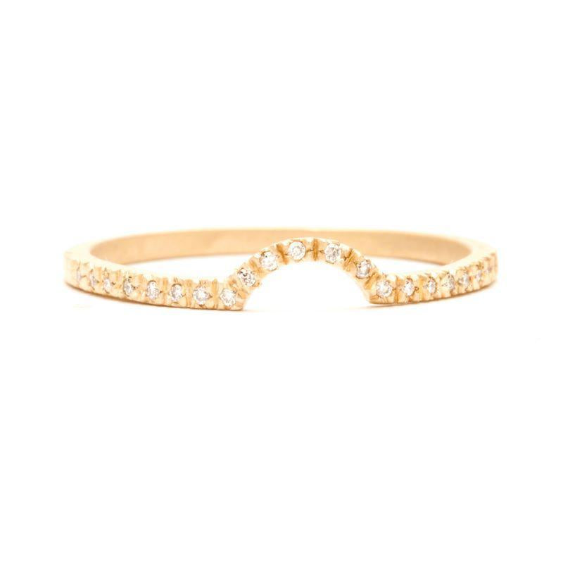 Pavé Crescent Nesting Band