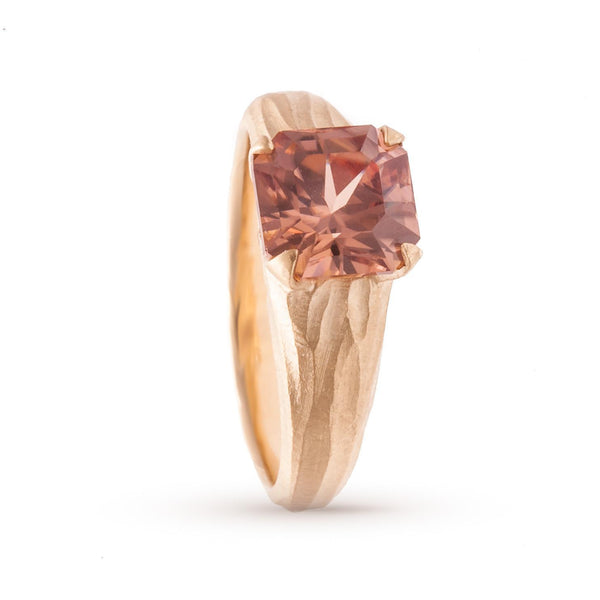 Peach Zircon Stream Ring