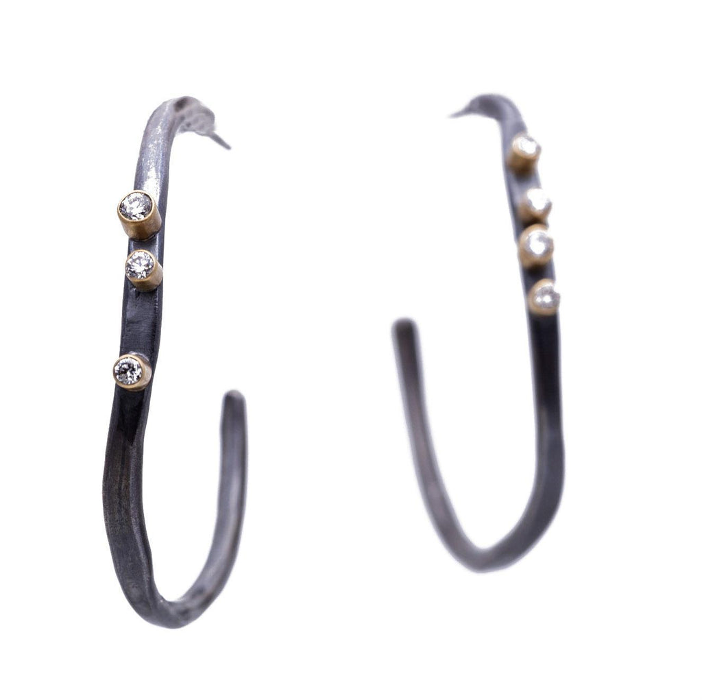 Large Forged Hoops, Two-Tone