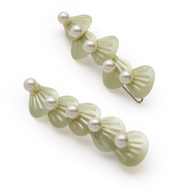 Seafoam Barrette Set