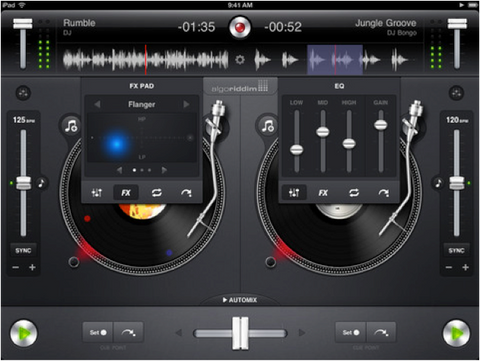 With a little bit of time and the help of some great apps and music with the help of apps like djay shown above you can begin to master the art of mixing djay accesses the music on your ipad mini allowing you to spin solutioingenieria Images