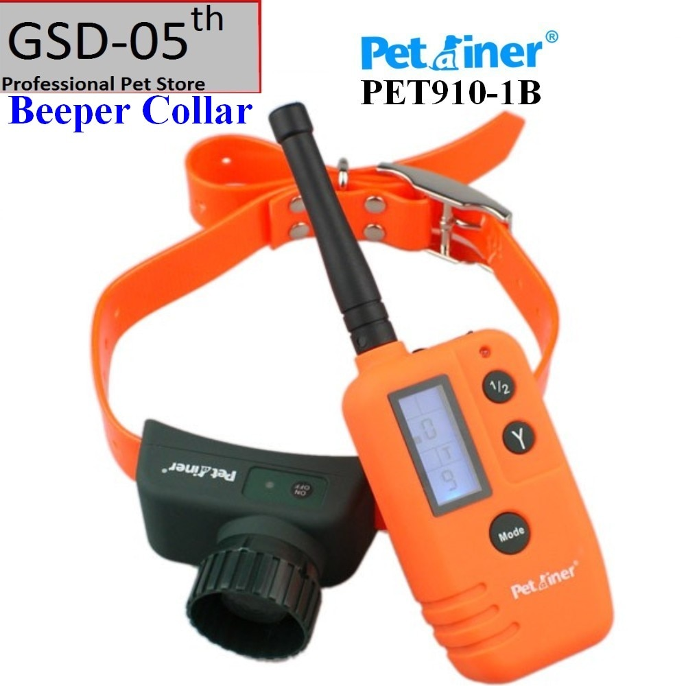 500m Hunter Blue LCD Electric Remote Dog Training Collar Petrainer Rechargeable Waterproof Beeper Only PET910-1B