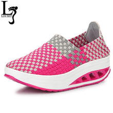Load image into Gallery viewer, 2017 New Summer Women Shoes Femal Flat Platform Fashion Comfortable Woven Women Shoes Breathable Casual Shoes Flat