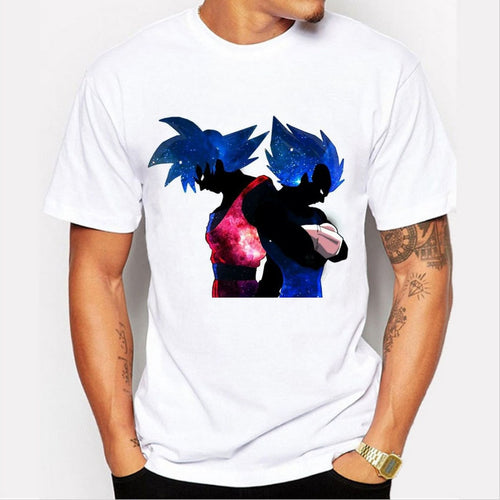 Dragon Ball T-shirt Men Short Sleeve Goku Z Vegeta