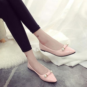 xiniu 2018 New Arrival Casual Fashion Ladie Casual Pregnant Women Shoes Pearl Breathable Flat Shoes Korean shoes Women Shoes