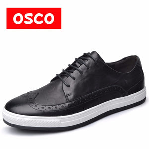 OSCO Fashion Sneakers Factory Direct ALL SEASON New Men Shoes Fashion Men Brogue Casual Leather Men Shoes Oxfords Men Shoes