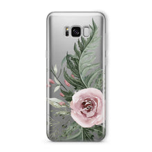 Load image into Gallery viewer, Dusty Pink Rose - Clear TPU iPhone Case / Samsung Case Phone Cover
