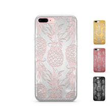 Load image into Gallery viewer, Chrome Shiny TPU iPhone Case Cover - Hawaiian Pineapple