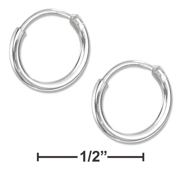 Sterling Silver 10mm Endless Wire Hoop Earrings