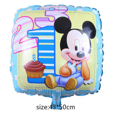 Load image into Gallery viewer, Giant Mickey Minnie Mouse Balloon Cartoon Foil Balloon Kids Birthday Party Decorations Classic Toys Gift cartoon hat