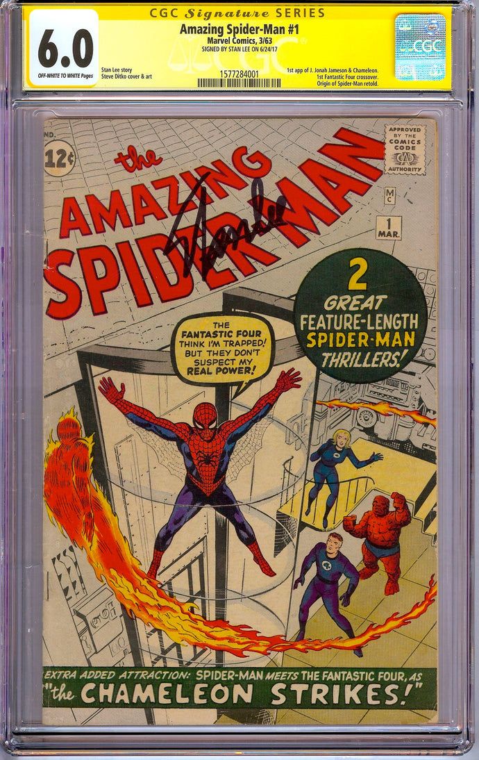 Amazing Spider-Man #1 CGC 6.0 SS Signed Stan Lee