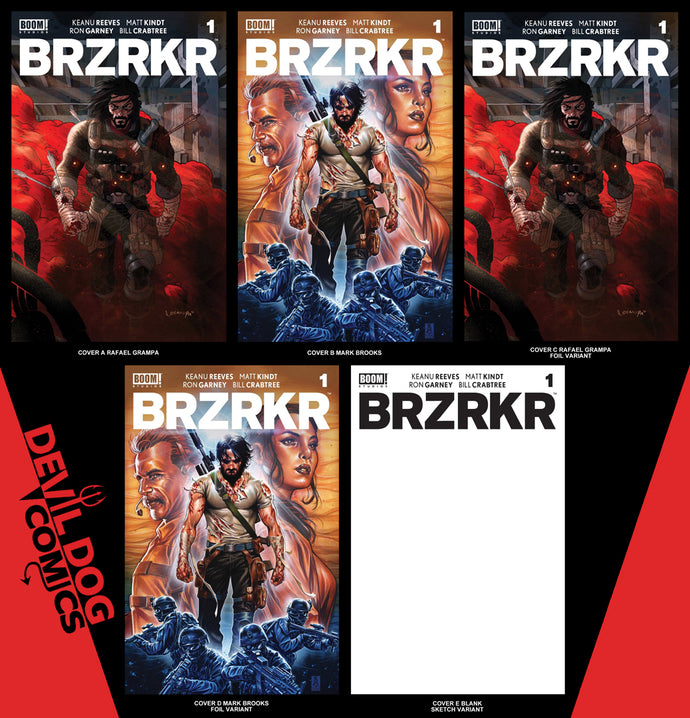 BRZRKR #1 • 5 Book Bundle A-E • Pre-Sale