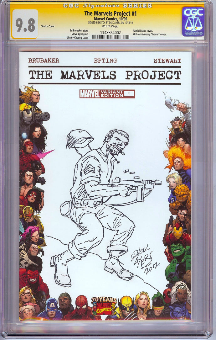 Marvels Project #1 CGC 9.8 SS Sketch by Dick Ayers