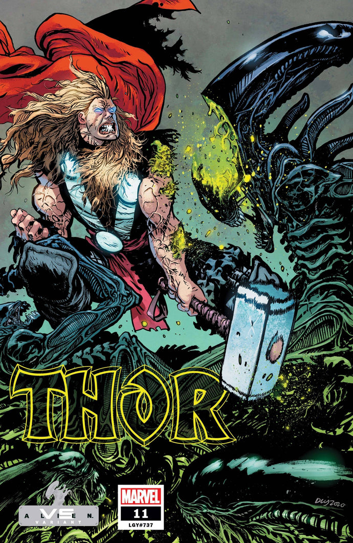 Thor #11 Daniel Warren Johnson Marvel v. Alien Variant (2021)