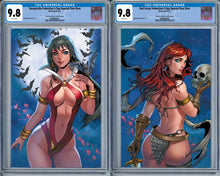 Load image into Gallery viewer, Red Sonja & Vampirella Valentine's Special Set Collette Turner Virgin Variant CGC (2021)