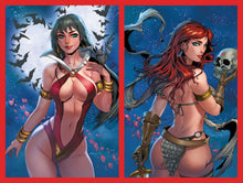 Load image into Gallery viewer, Red Sonja & Vampirella Valentine's Special Set Collette Turner Virgin Variant (2021)