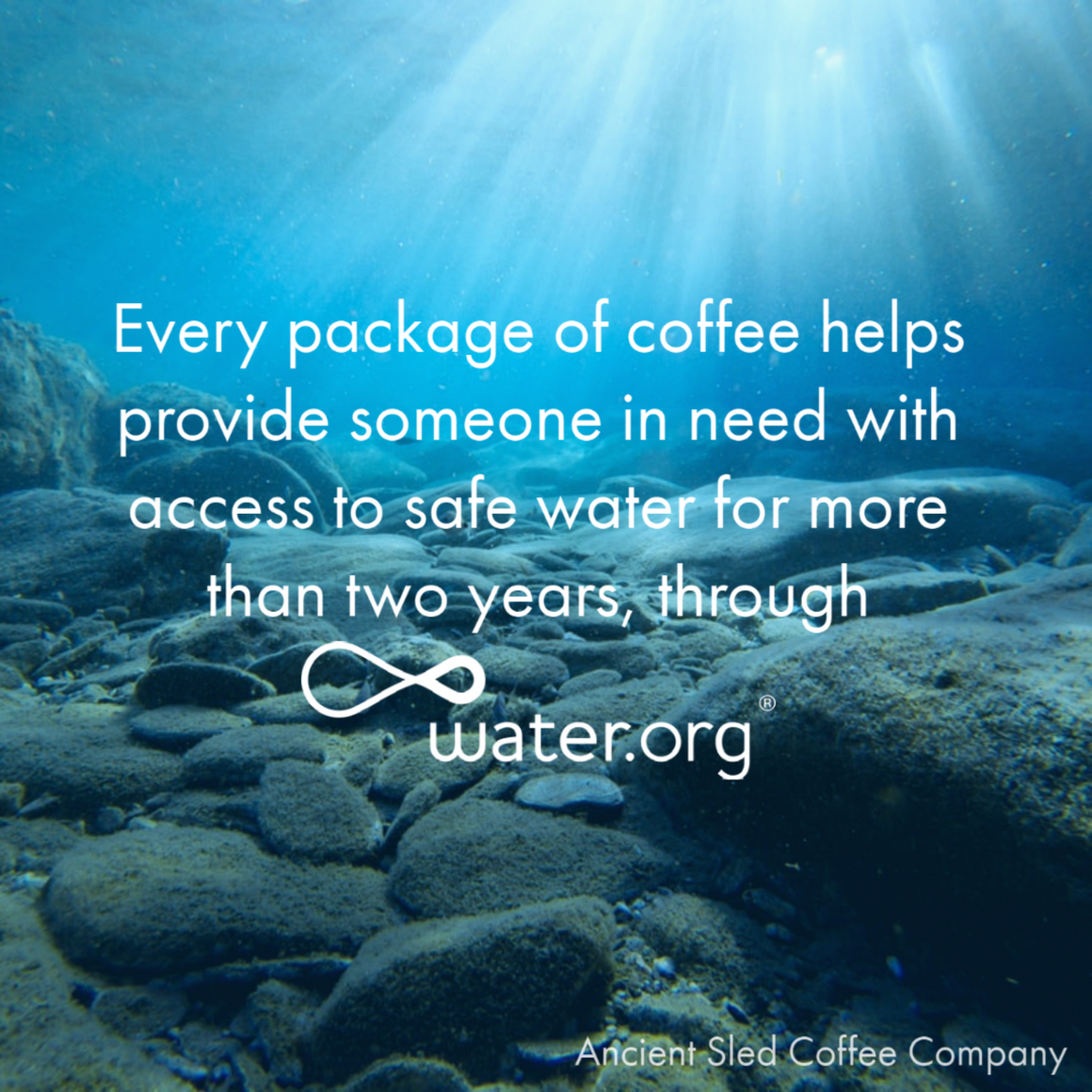 Helping to provide access to safe water through water.org