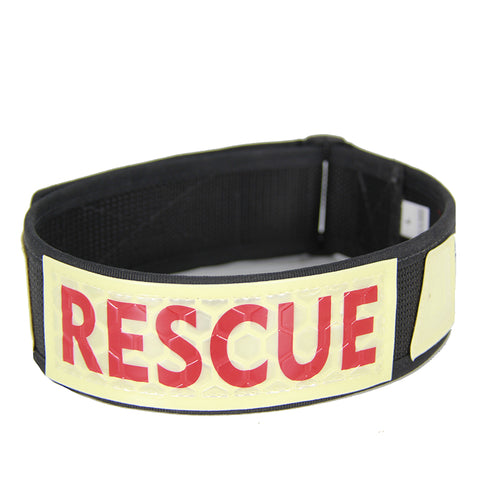 K9 IDENTIFICATION COLLAR, WITH RESCUE GLO-FLEX