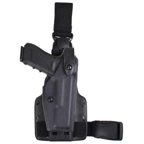 Safariland Model 6005 SLS Tactical Holster with Quick-Release Leg Strap for Browning Hi-Power (OD Green)