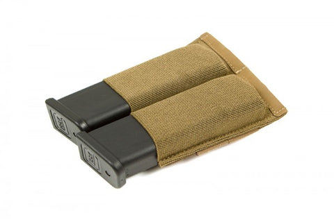 Helium Whisper Ten-Speed Double Pistol Mag Pouch - Coyote Brown