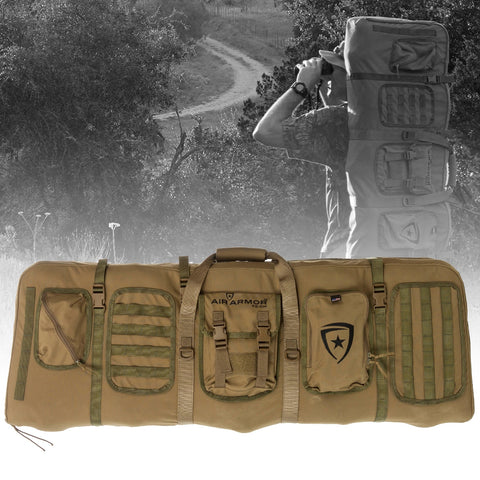 AAT MID-LENGTH GUN CASE - Coyote w/ Olive Drab Webbing