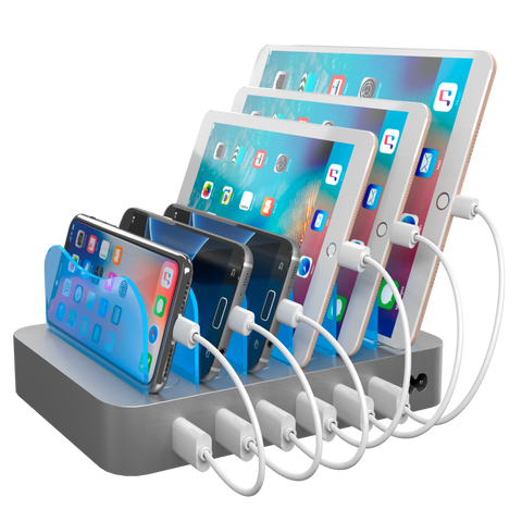 Hercules Tuff 6-Port Charging Station - Silver