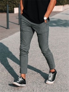 Mens Classic Casual Striped Trousers