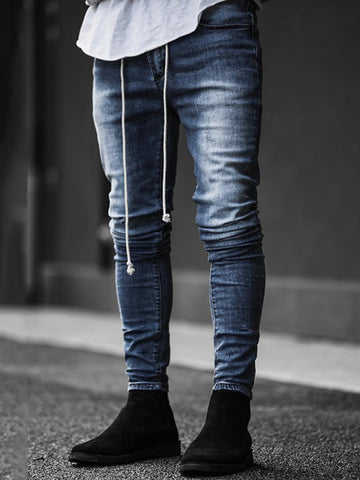 Mens Fashion denim Slim fitted long Jeans