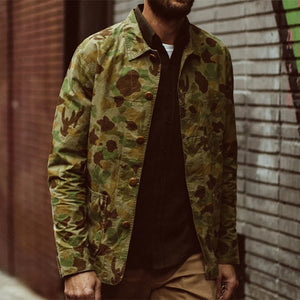 Classic Mens Camouflage Lapel Jacket