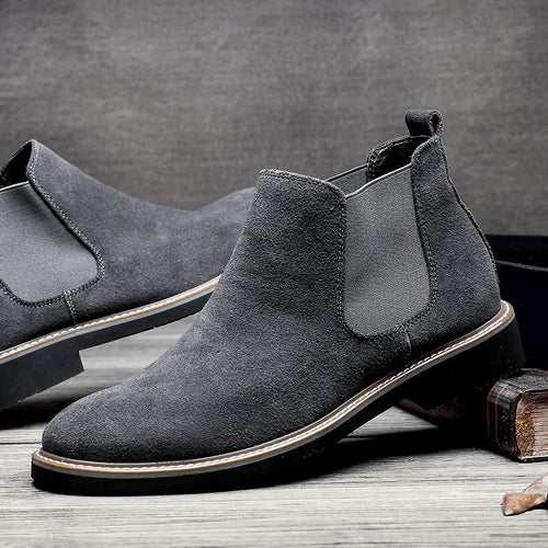 Casual Men's  Squadron Helps Pure Color Martin's Boots Polish Chelsea's Boots