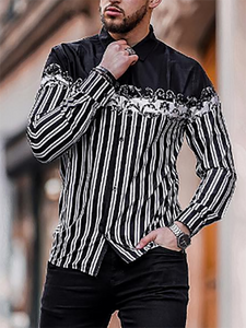 Casual Mens Casual Striped Shirt
