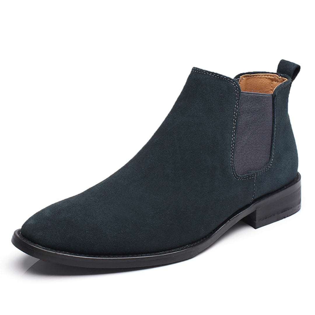 8f73e00b6c4d Men s High Leather Pure Color Chelsea Boots – Chicmay