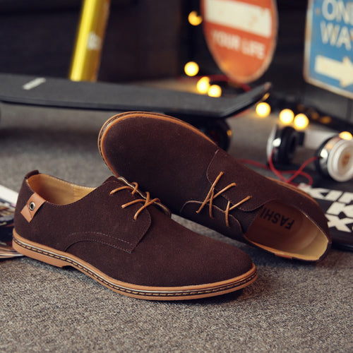 Casual shoes lace-up dull polish   shoes wet shoes - ChicMay