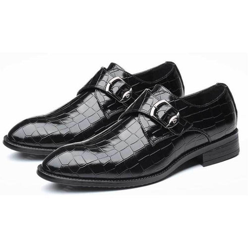 Buttoned Glossy Leather Shoes - ChicMay