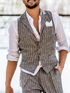 Fashion Mens Classic Lapel Single Breasted Vest
