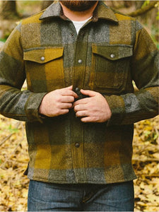 Mens Casual Plaid Shirt