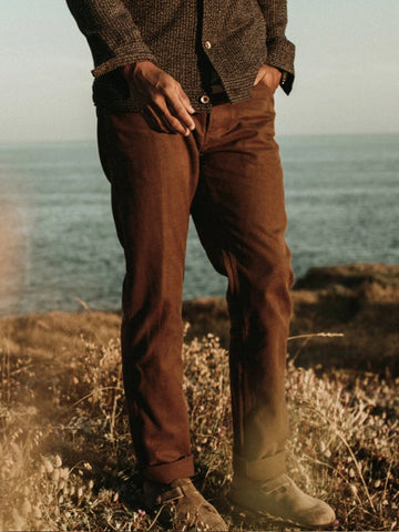 Mens Classic Casual Straight Trousers
