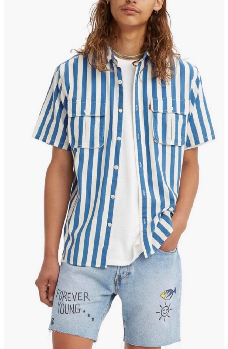 Circus Stripe Short Sleeve Shirt
