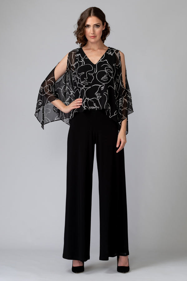 Joseph Ribkoff Abstract Print Jumpsuit