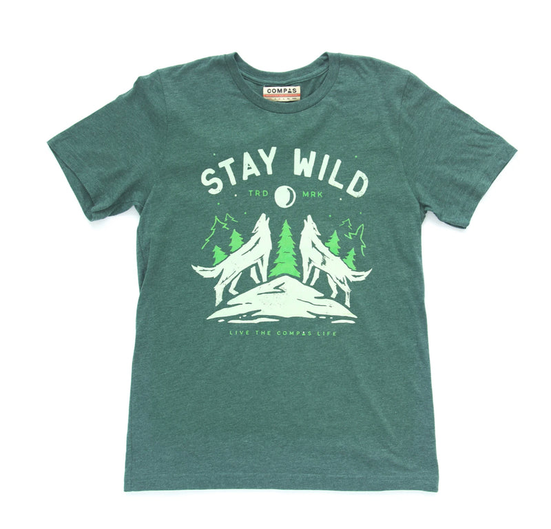 Howling Wolf Tee - Green