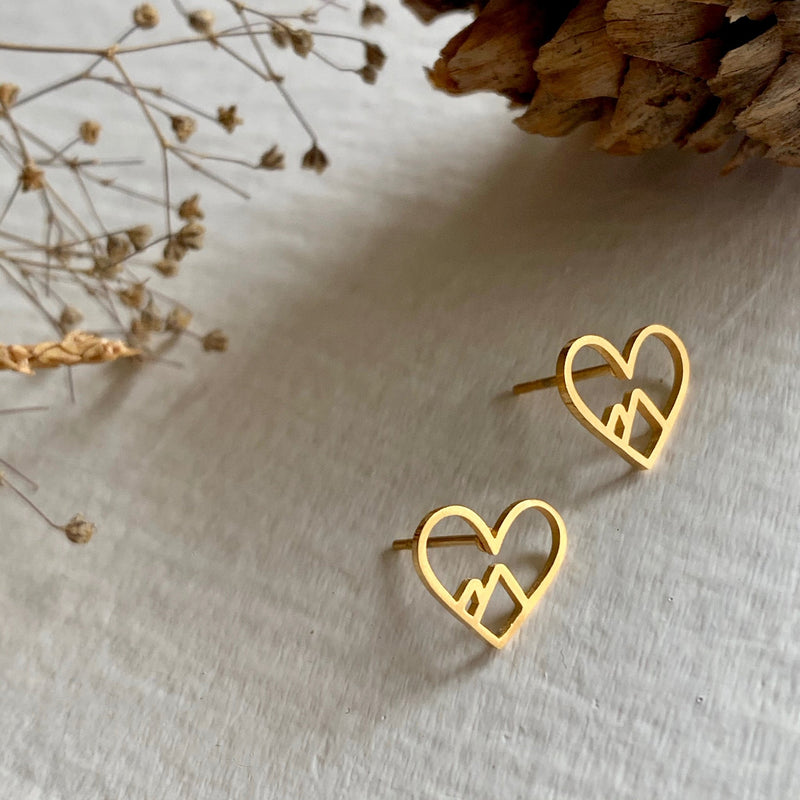 Pika & Bear Heart of the Mountain Stud Earrings