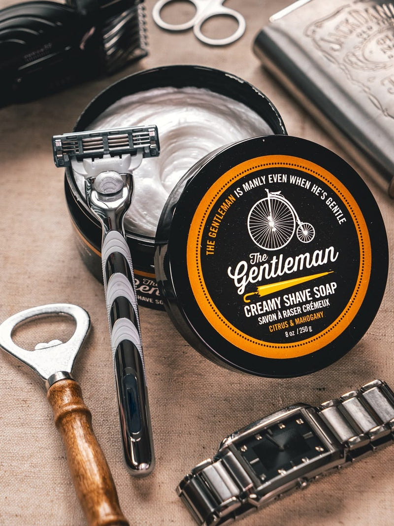 WW The Gentleman Creamy Shave Soap in Citrus & Mahogany