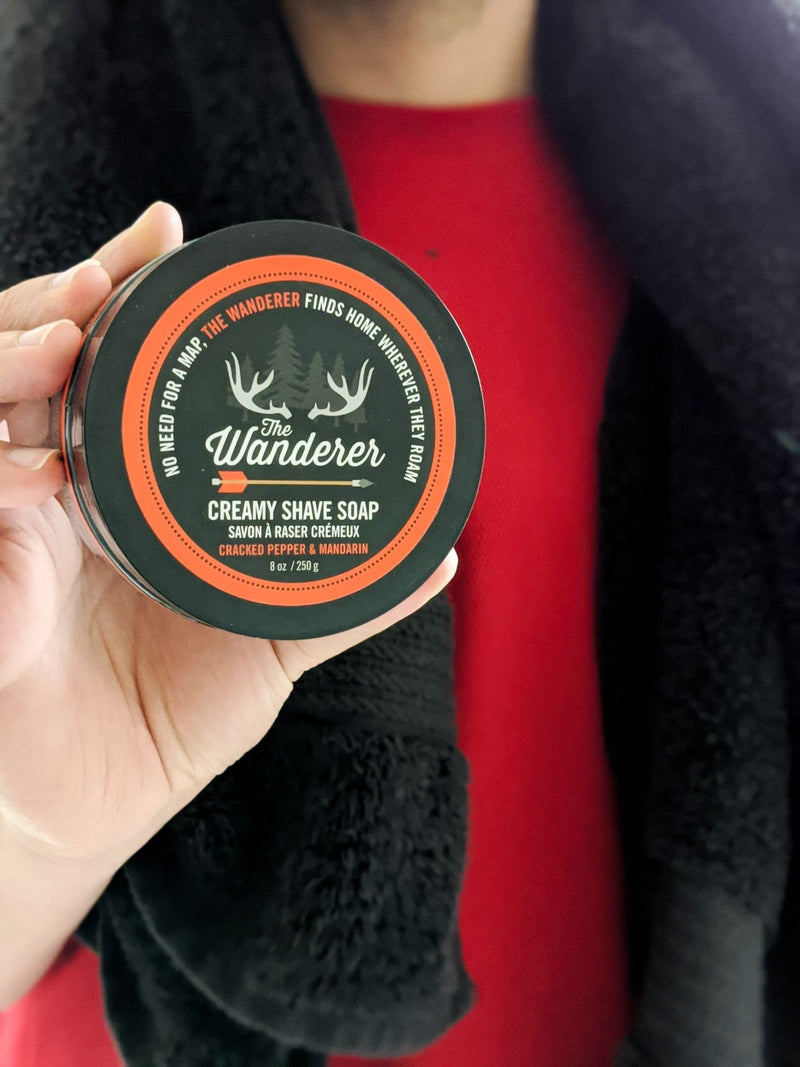 WW The Wanderer Creamy Shave Soap in Cracked Pepper & Mandarin