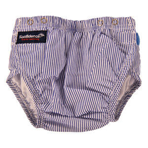 Swim Nappy - Navy Stripe