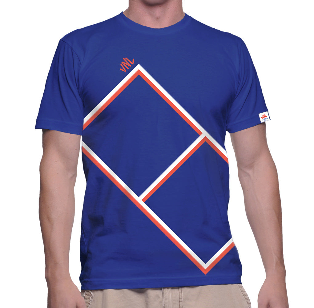 Mens VNL Court Tee Blue