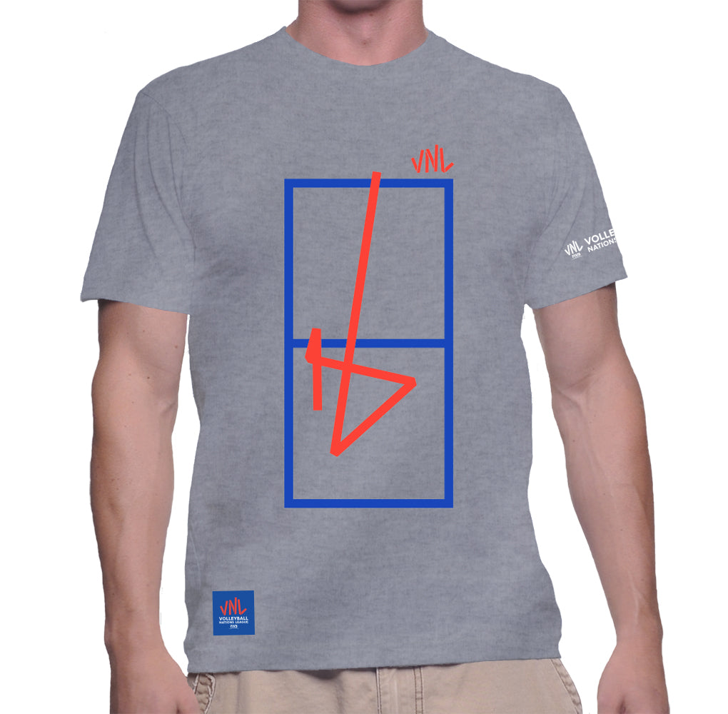 Mens Match Point Game Tee Grey