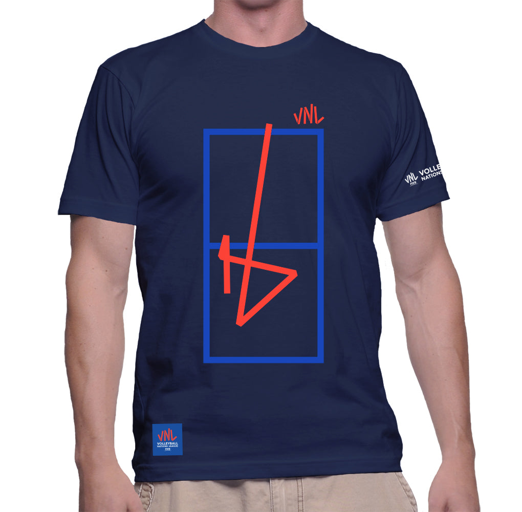 Mens Match Point Game Tee Navy
