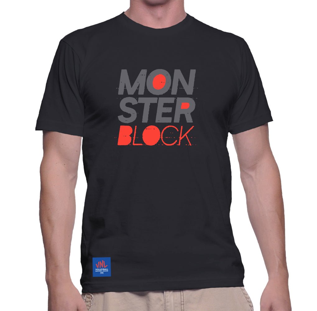 Mens Match Point Monster Block Tee Black